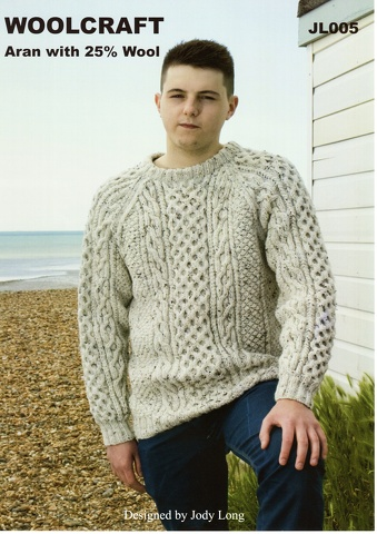 Woolcraft Aran with 25% Wool Pattern JL005