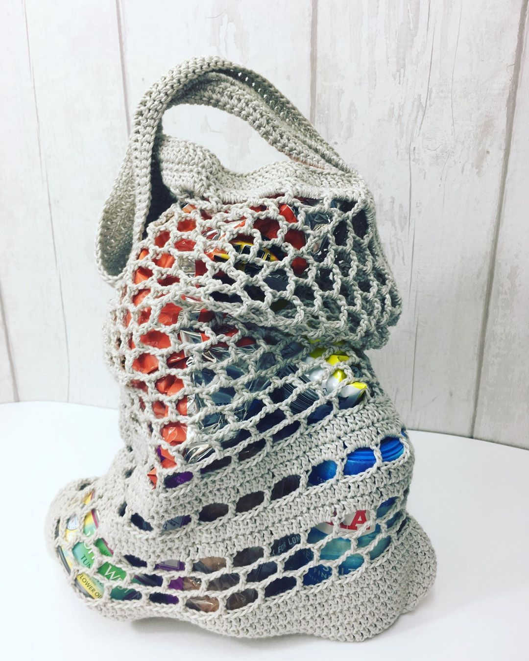 Free shopping bag crocheting pattern